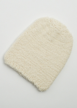 Ivory Eyelash Soft Knit Beanie