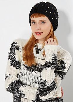 Studded Knit Beanie