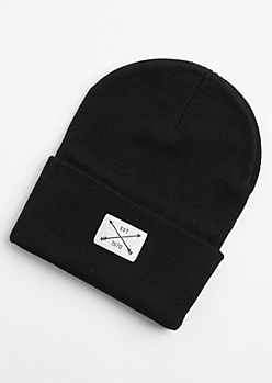 Black Est 1970 Patch Beanie