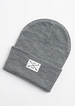 Gray Est 1970 Patch Beanie