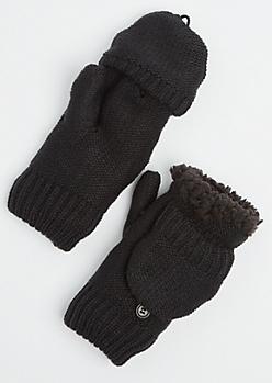 Black Sherpa Mittens