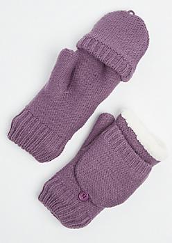 Purple Sherpa Mittens