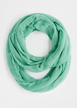 Light Green Cozy Knit Infinity Scarf