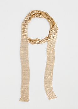 Gold Metallic Link Scarf