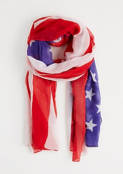 Americana Sheer Oblong Scarf