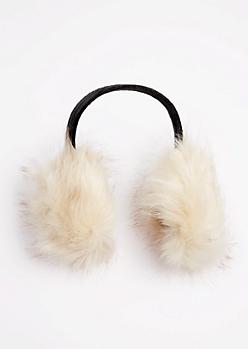 Ivory Faux Fur Earmuffs