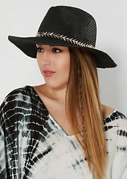 Black Pointed Arrow Panama Hat