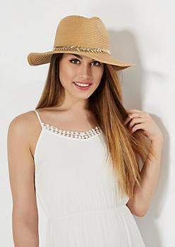 Tan Pointed Arrow Panama Hat
