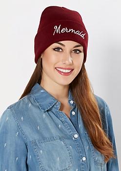 Mermaid Cuffed Beanie