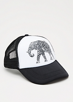 Tribal Elephant Trucker Hat
