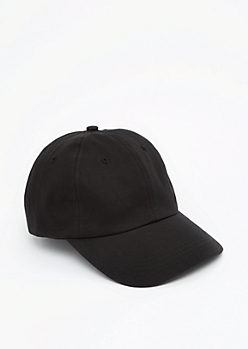 Black Twill Baseball Hat