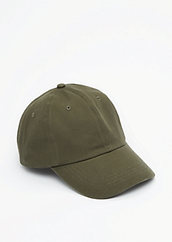 Olive Green Twill Baseball Hat