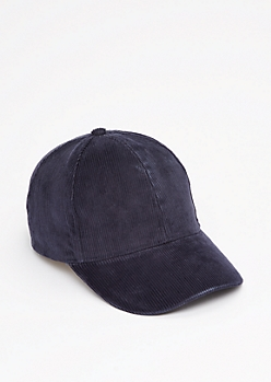 Navy Curdoroy Baseball Hat
