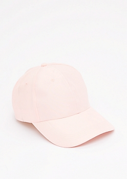 Pink Satin Baseball Hat