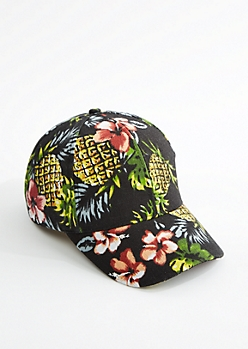 Hawaiian Print Dad Hat