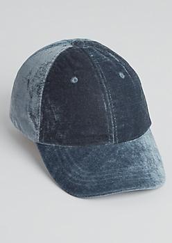 Gray Velvet Dad Hat