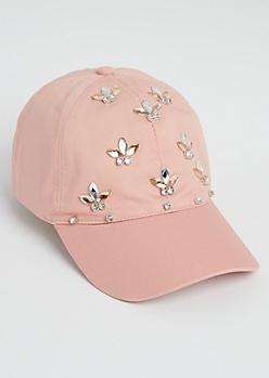 Pink Stone Burst Dad Hat