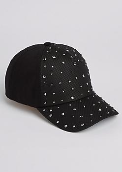 Black Embellished Dad Hat