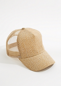 Chevron Straw Baseball Hat