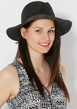 Black Braided Band Straw Panama Hat