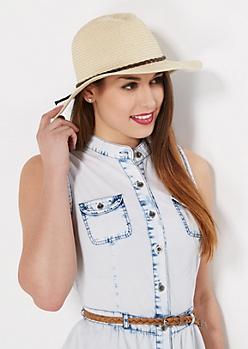 Classic Braided Band Straw Panama Hat