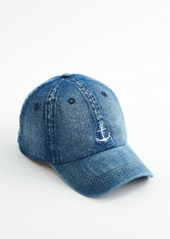 Denim Anchor Dad Hat