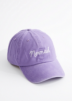 Mermaid Washed Dad Hat