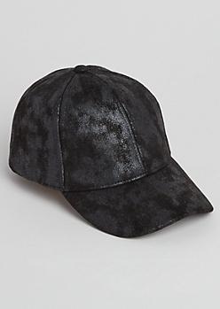 Black Crackled Dad Hat