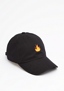 Flaming Baseball hat