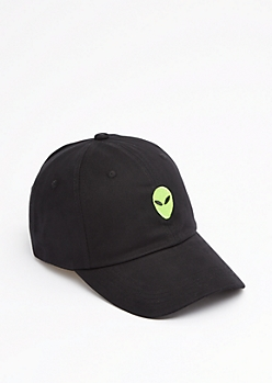 Green Alien Baseball hat