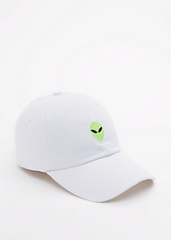 White Alien Baseball Hat