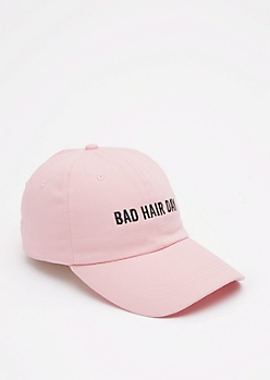 Light Pink Bad Hair Day Baseball Hat