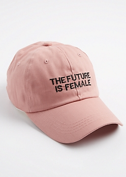 Pink The Future Is Female Dad Hat
