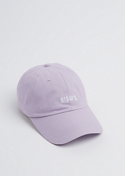 Lavender B!$@% Washed Dad Hat