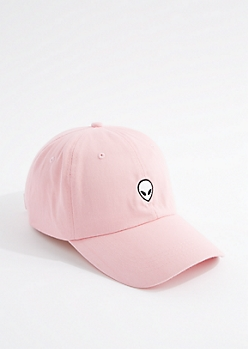 Light Pink Alien Baseball Hat