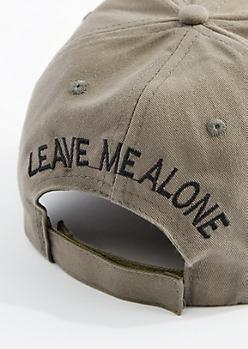 Olive Leave Me Alone Baseball Hat