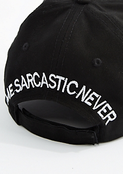 Black Me Sarcastic Never Baseball Hat