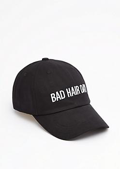 Black Bad Hair Day Baseball Hat