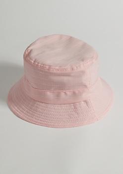 Pink Striped Bucket Hat