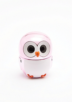 Pink Metallic Owl Lip Gloss