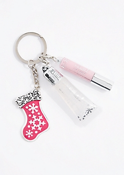 Stocking Charm Lip Gloss Keychain