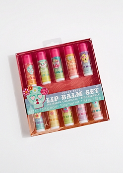 10-Pack Sugar Skull Scented Lip Balm Set