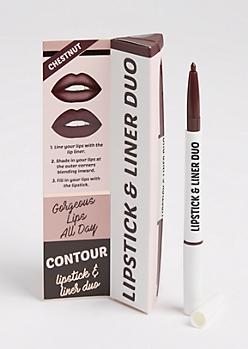Chestnut Burgundy Lipstick & Liner Duo