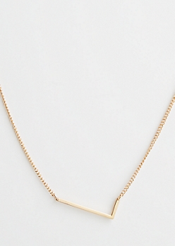 Gold L Initial Necklace