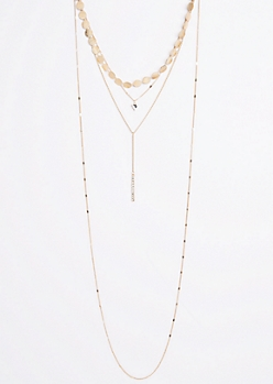Golden Circle Tiered Necklace