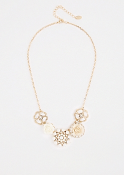 Life Is Rosy Charm Necklace