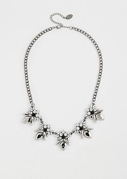 Black Geo Gemstone Necklace