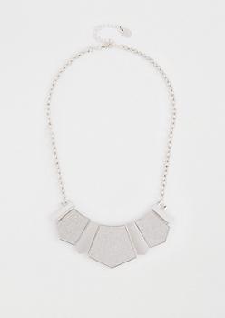Glittering Geo Pendant Necklace