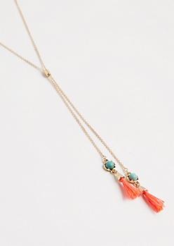 Tasseled Y-Necklace