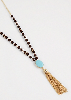 Beaded Gemstone Necklace